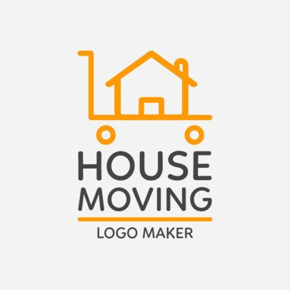 House Moving Online Logo Template 1387b