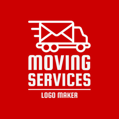 Simple Moving Company Logo Design Maker 1387d