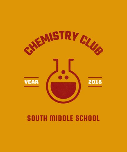 Science Club T-Shirt Design Template 484d
