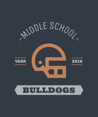 Middle School Football T-Shirt Design Template 484e