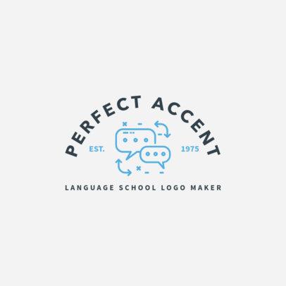 Simple Logo Maker for Language Schools 1365c