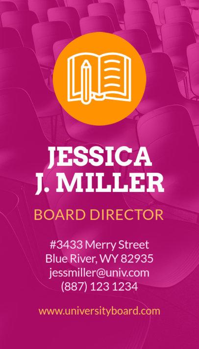 School Board Director Business Card Creator 573b