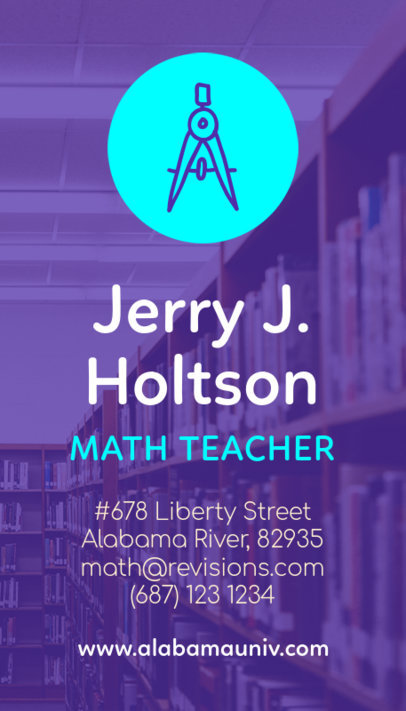 Math Teacher Business Card Template 573d