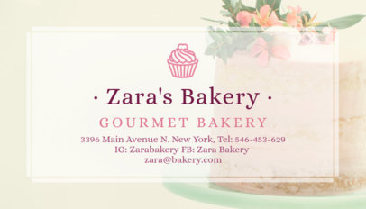 Delicacy Cake Bakery Business Card Maker 572c