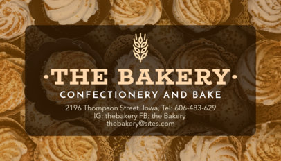 Confectionary Bakery Business Card Maker 572e