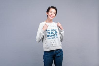 Sweatshirt Mockup Featuring a Happy Woman 21799