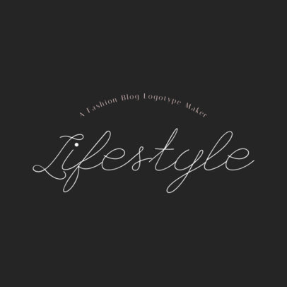 Fashion Logo Creator for Lifestyle Blogs 1409c