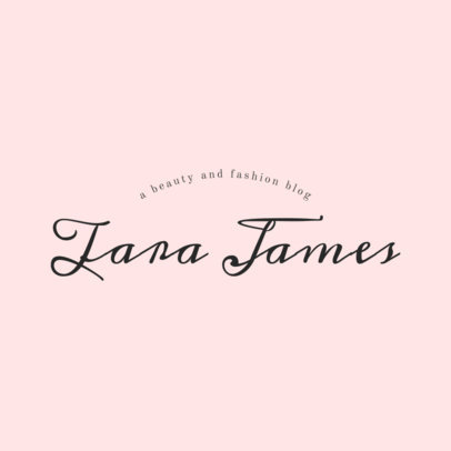 Fashion Logo Template with Script Typeface for Bloggers 1409e