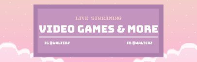 Twitch Channel Banner Maker with Pixelated Graphics 600d