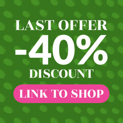 Online Banner Maker for Sales Add with a Pink CTA Button 528d