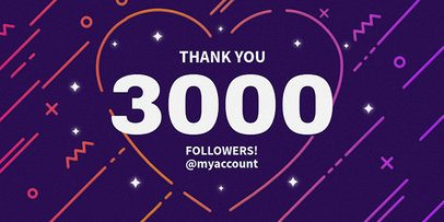Twitter Post Template for Followers Milestone Celebration 625