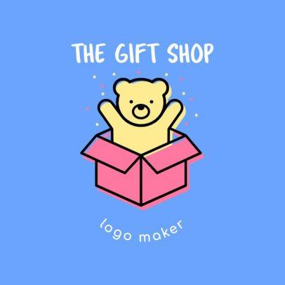 Cute Gift Shop Logo Design Template 1396e