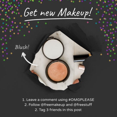 Instagram Post Template for Makeup Giveaway 629c
