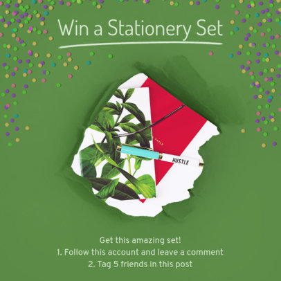 Stationery Giveaway Insta Post Template 629e