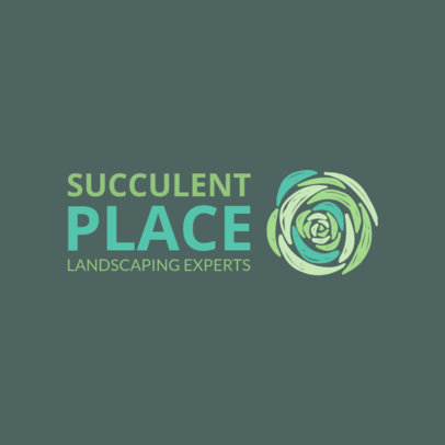 Logo Maker for a Landscaping Business with Succulent Graphic 1435c