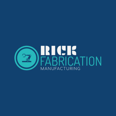 Manufacturing and Fabrication Logo Template 1417a