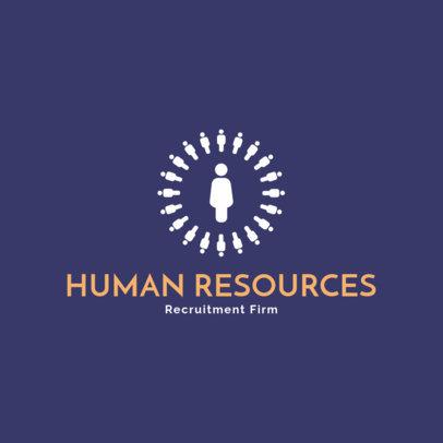 Recruitment Agency Logo Design Template 1444b