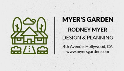 Landscaping Services Business Card Template 666