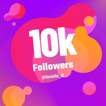 Instagram Post Maker for a Followers Thank You Message Post 636c