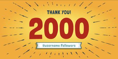 Cartoonish Twitter Post Template for Followers Milestone 617