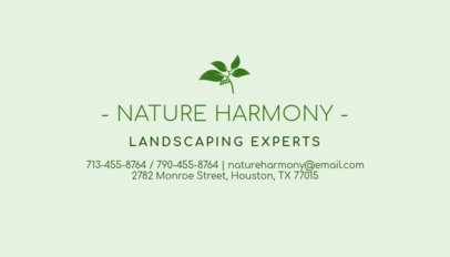 Business Card Generator for Landscaping Experts 652b