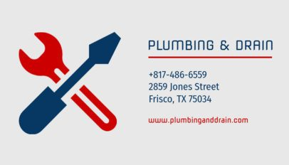 Plumbing and Drain Services Business Card Template 654e
