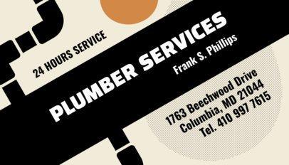 Plumbing Business Card Template 662