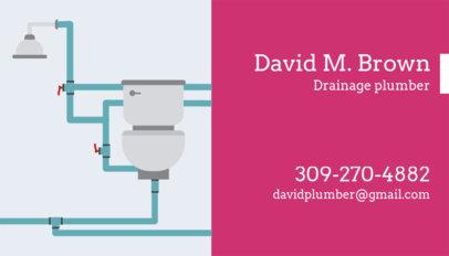 Drainage Plumber Business Card Template 660e