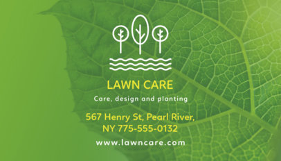 Business Card Template for a Landscaping Business 647