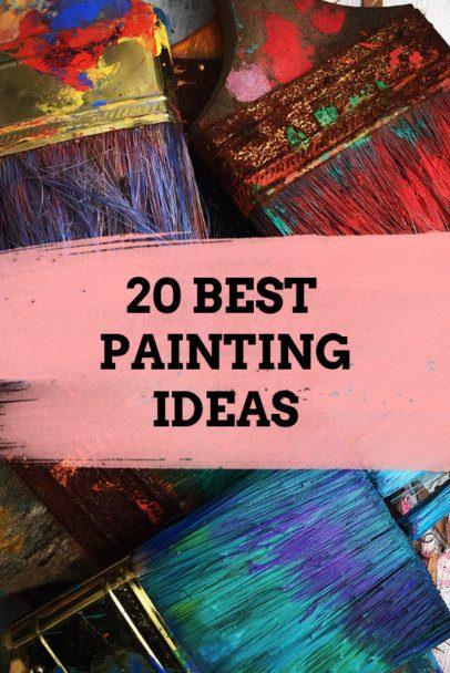 Painting Ideas Pinterest Pin Template 663e