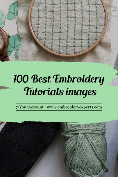 Embroidery Tutorial Pinterest Post Maker 663a