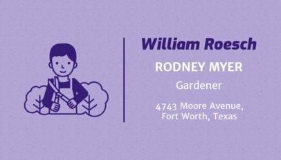 Gardener Business Card Template 666a
