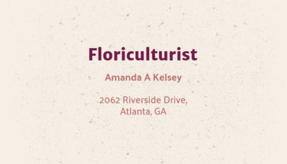 Floriculturist Business Card Maker 666c