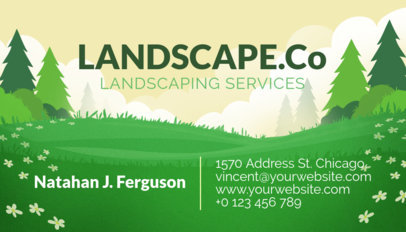 Business Card Template for a Landscaping Services Company 656