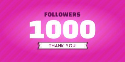 Stripped Twitter Post Maker for a Milestone Post for Followers 617a