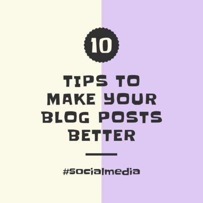 Instagram Post Template for Blog Tips 631c