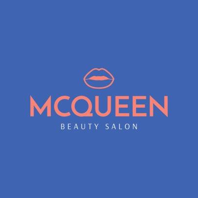 Beauty Salon Logo Maker Featuring a Lips Icon 1465a