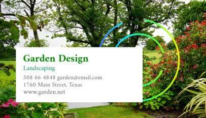 Landscaping Design Business Card Template 644