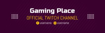 Gaming Channel Banner Design Template for Twitch 603c