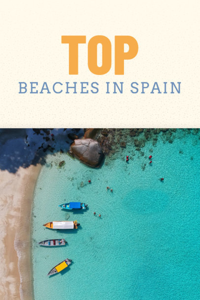 Top Beaches Pin Template for Pinterest 633c