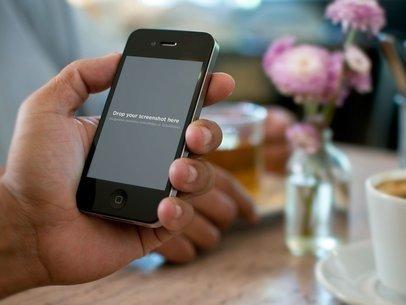 Black iPhone 4 Flowers
