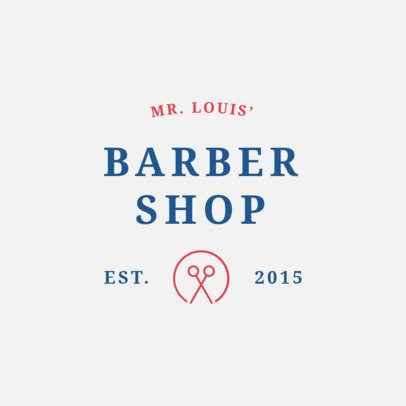 Logo Design Template for Barbershops 1471