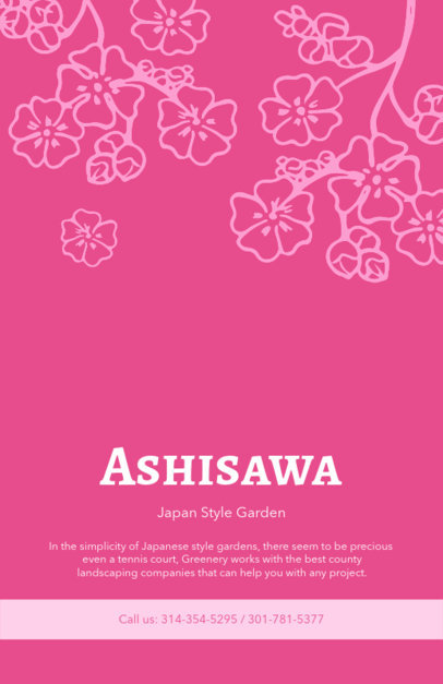 Landscape Flyer Template for Japan Style Garden 674a