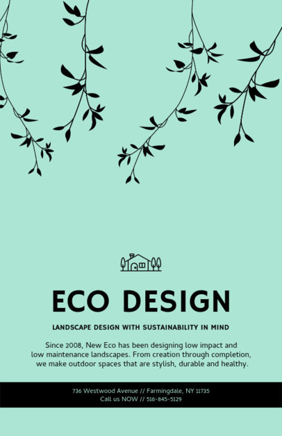 Flyer Design Template for Sustainable Landscaping 674c