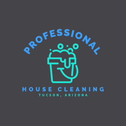 Professional House Cleaning Logo Generator 1454c