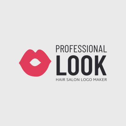 Professional Hairstylist Logo Template 1470d