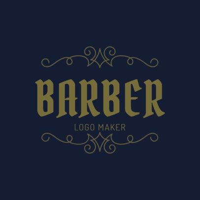 Logo Template for a Barber's Shop 1472c