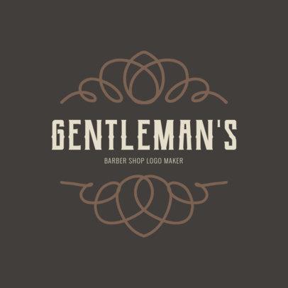 Gentleman's Barber Shop Logo Maker 1472e