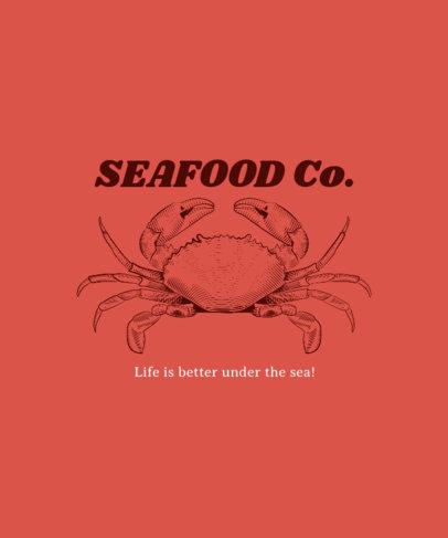 Shirt Template for Seafood Restaurants 481d