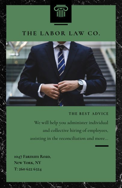 Flyer Template for a Law Firm 701b